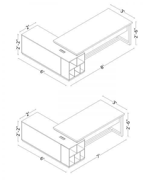 Dimension Director Desk