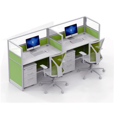 Modern 2 person-office partition desk office