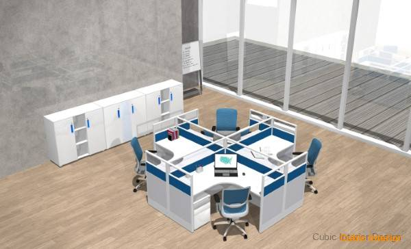 Modern cubicle curved office furniture