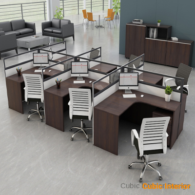 Modern offices staff table for large office station