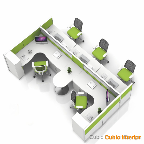 office interior design for 5 person modular cubicles