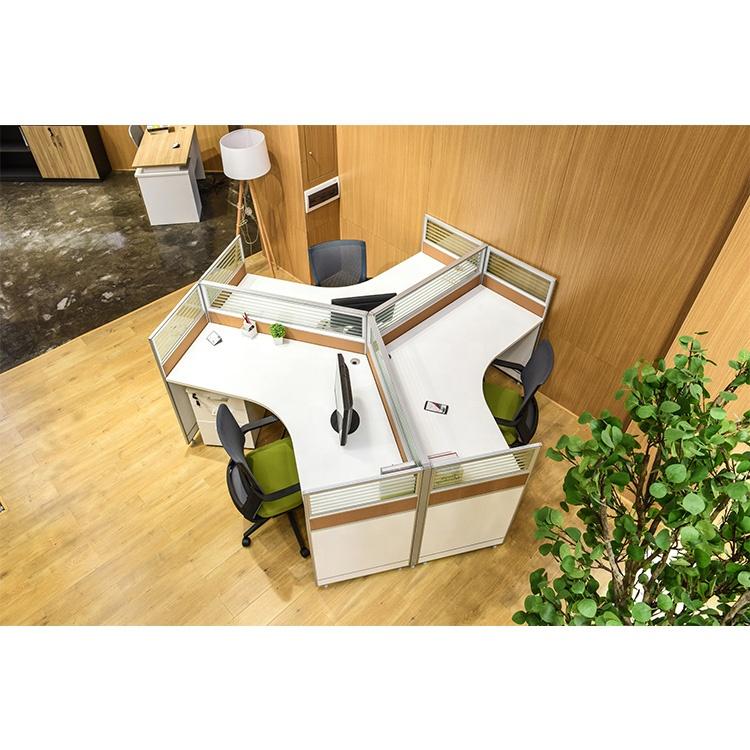corner three person office interior design
