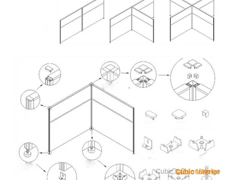 office desk partition design