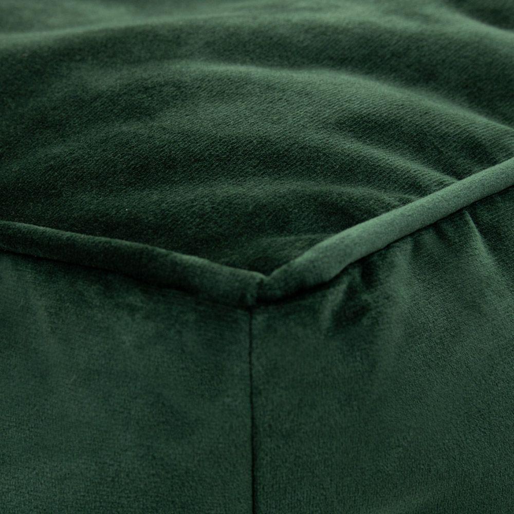 Velvet Footstool BeanBag forest green color