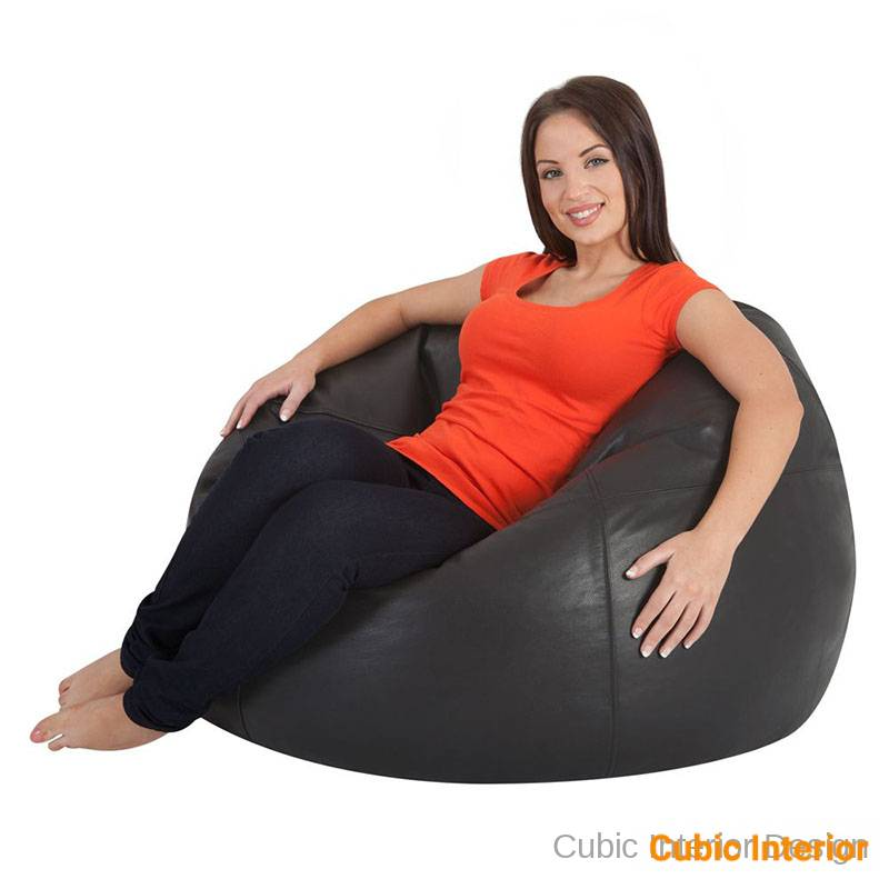 classic leather bean bag